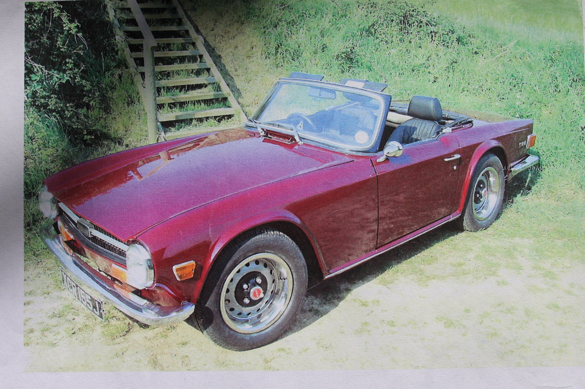 1971 Triumph TR6 PI original rhd with overdrive For Sale (picture 1 of 4)