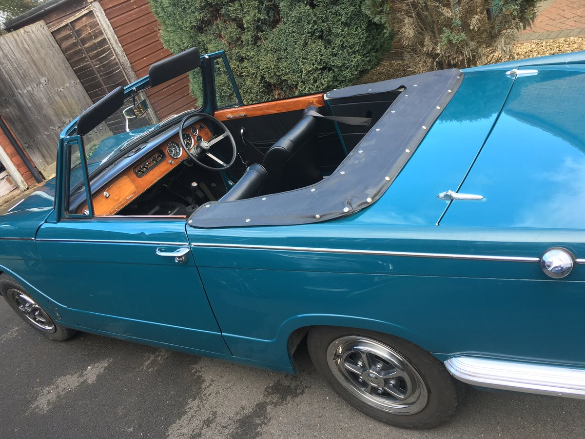 1969 Triumph Vitesse MkII Convertible with overdrive SOLD (picture 5 of 5)