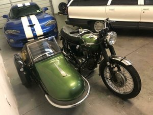 1969 Triumph Bonneville with sidecar! SOLD