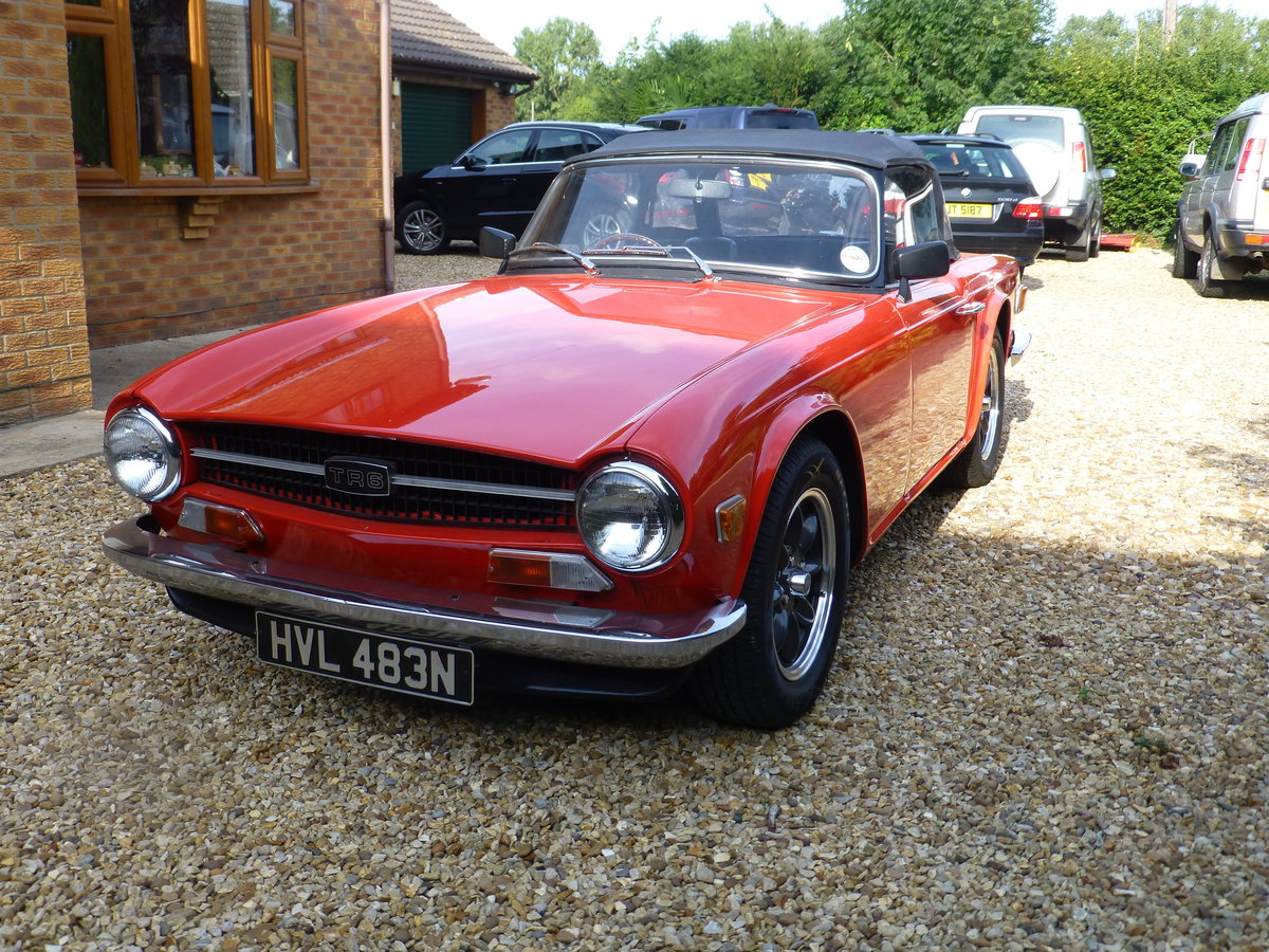1975 TR6 Original UK Car For Sale (picture 1 of 6)