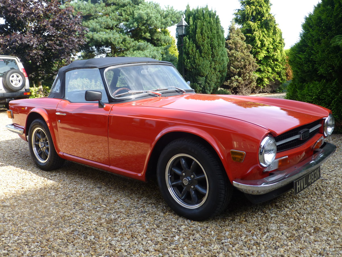 1975 TR6 Original UK Car For Sale (picture 2 of 6)