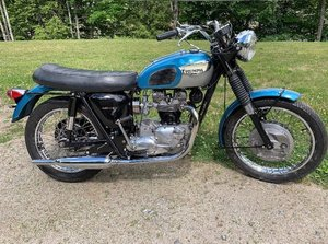 Triumph TR6R Tiger 650cc unit construction 1968