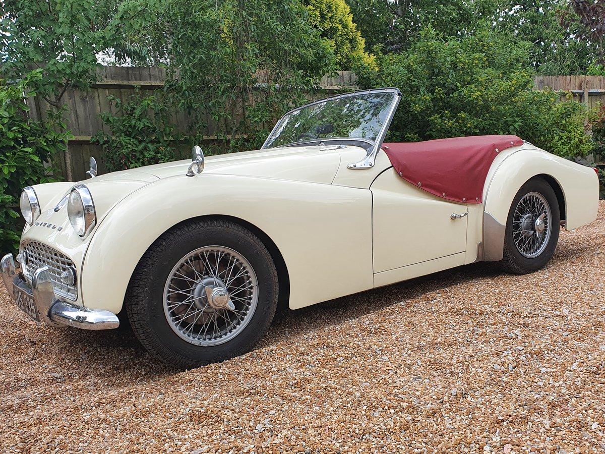 1960 Triumph TR3a SOLD (picture 1 of 6)