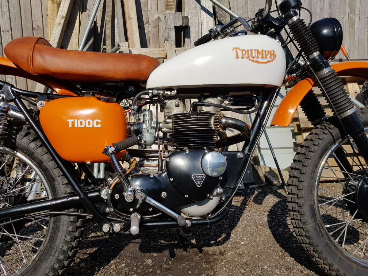 1966 Triumph Tiger T100C (Competition) For Sale (picture 5 of 6)