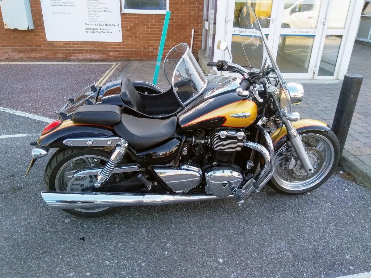2013 Triumph Thunderbird with Watsonian GP700 sidecar For Sale (picture 1 of 4)