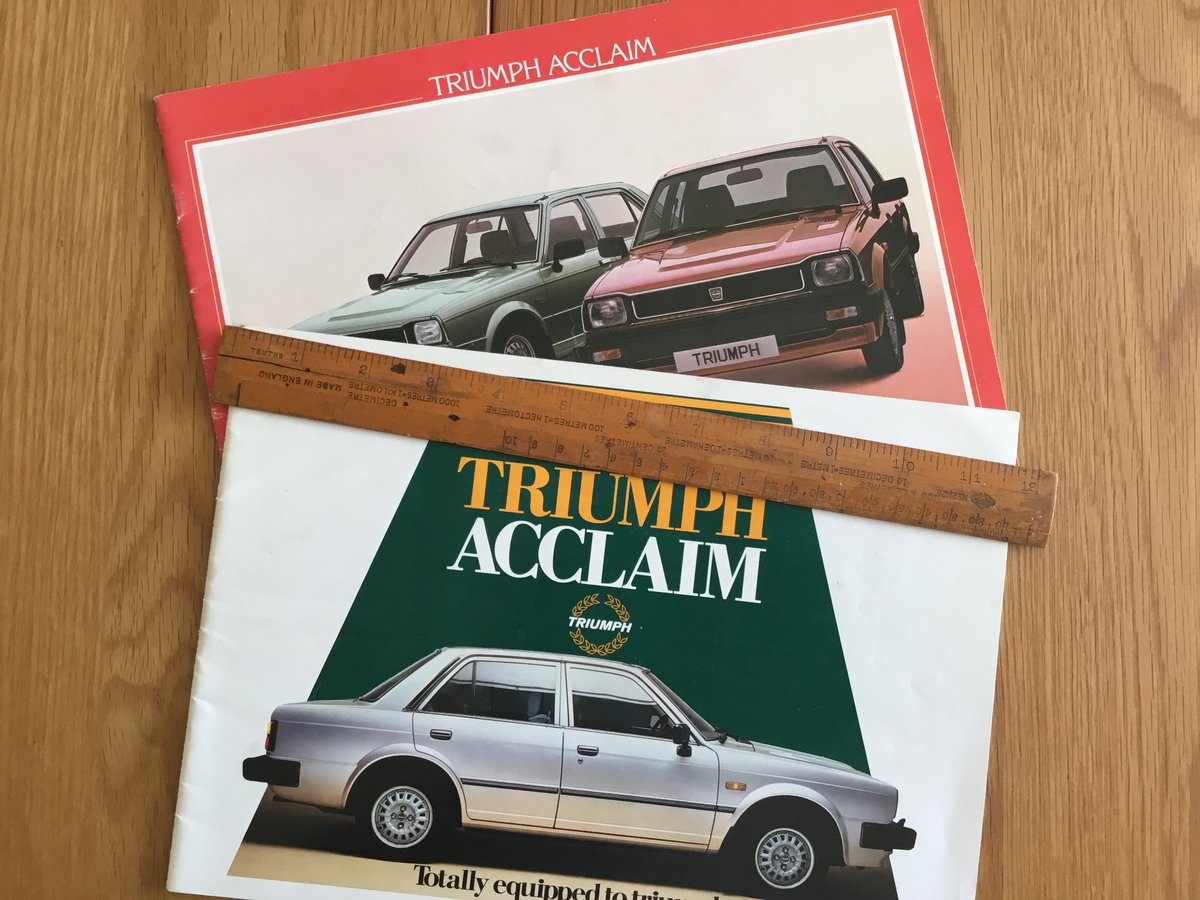 1984 Triumph Acclaim brochures For Sale (picture 1 of 1)