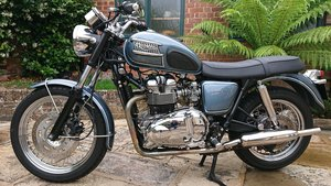 2006 Triumph Custom Hinkley Bonneville with private reg