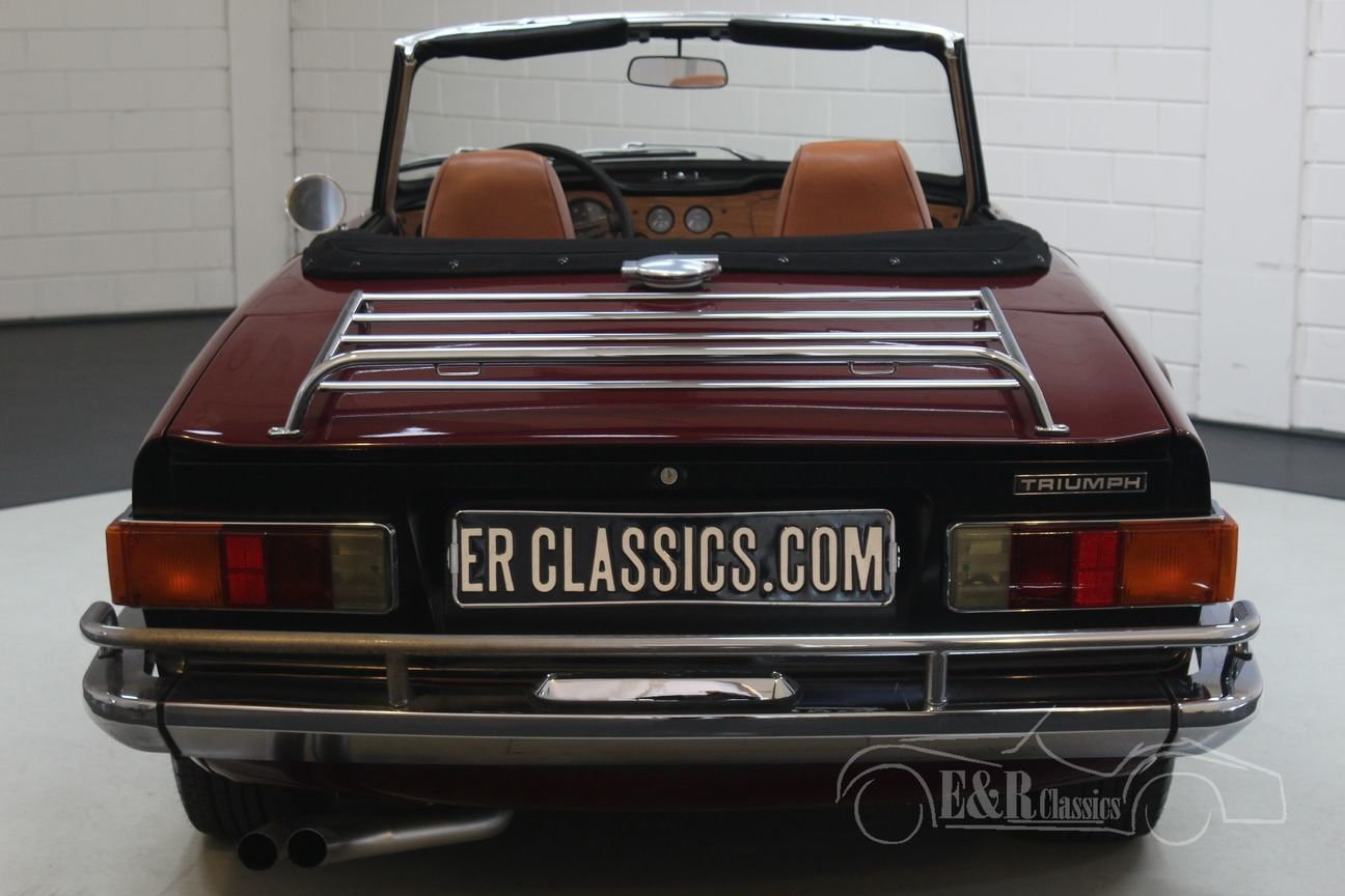Triumph TR6 Cabriolet 1972 Burgundy red For Sale (picture 5 of 6)