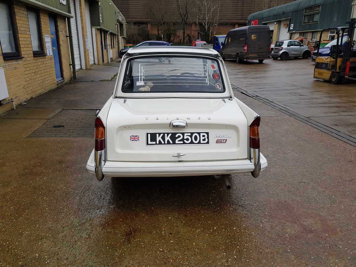 1964 Triumph Herald 12/50 Saloon for auction 16th -17th July SOLD by Auction (picture 5 of 5)