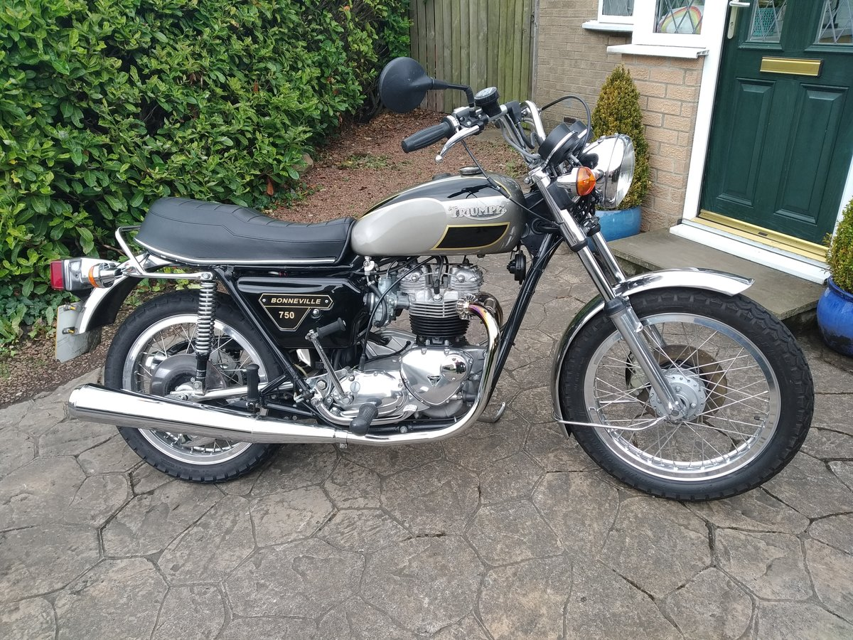 1977 Triumph bonneville jubilee exceptional condition. For Sale (picture 1 of 6)