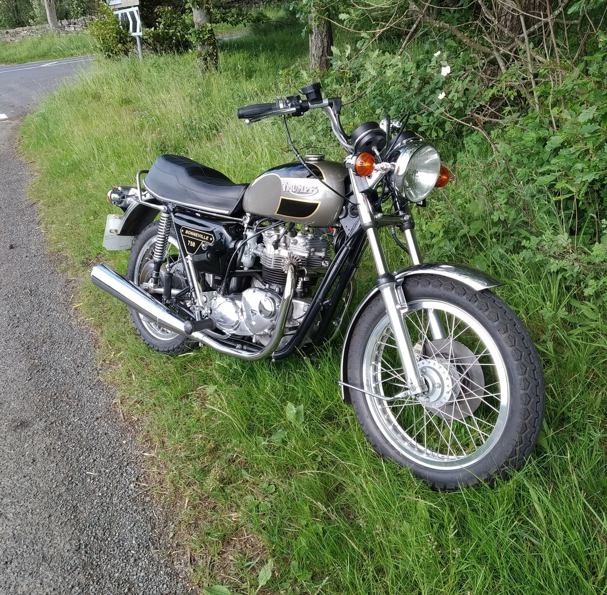 1977 Triumph bonneville jubilee exceptional condition. For Sale (picture 6 of 6)