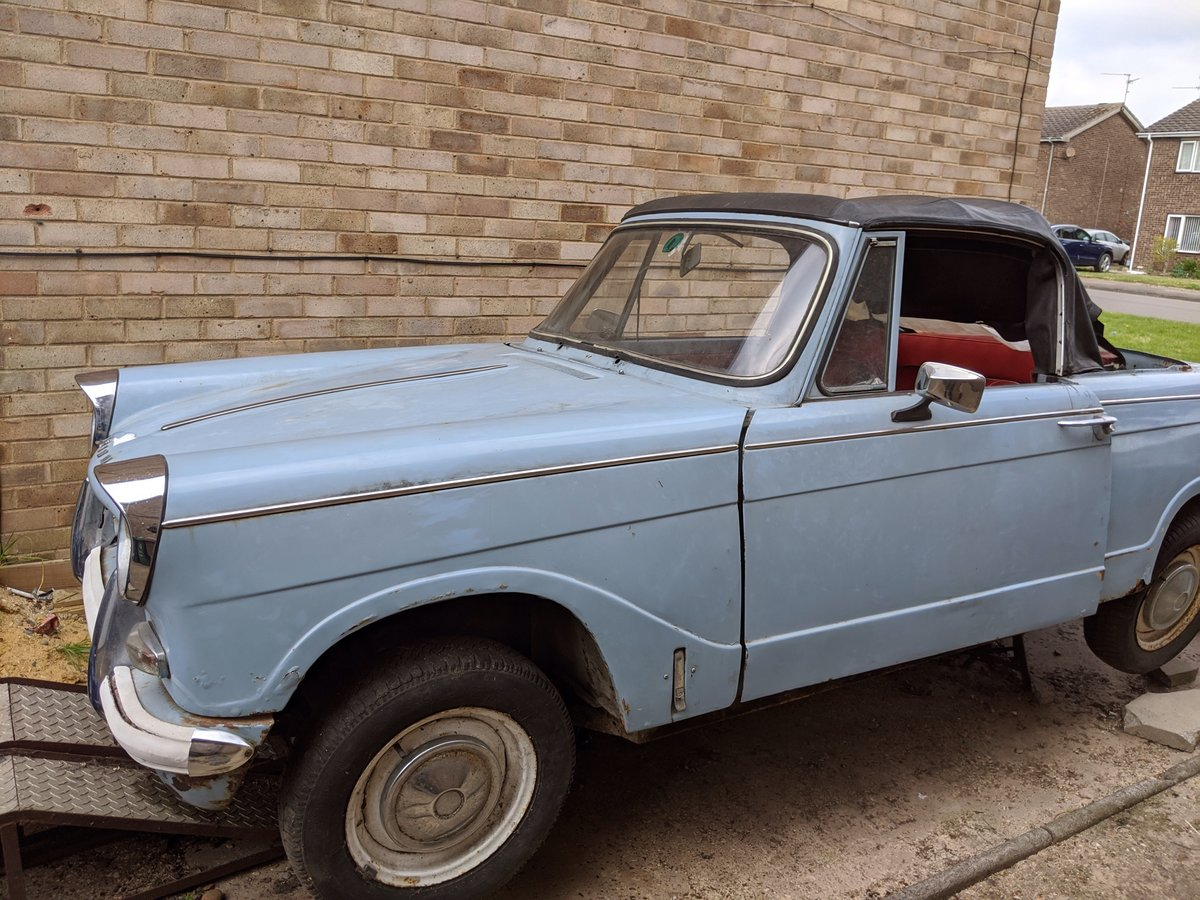 1966 Triumph herald convertible 1200  For Sale (picture 2 of 6)