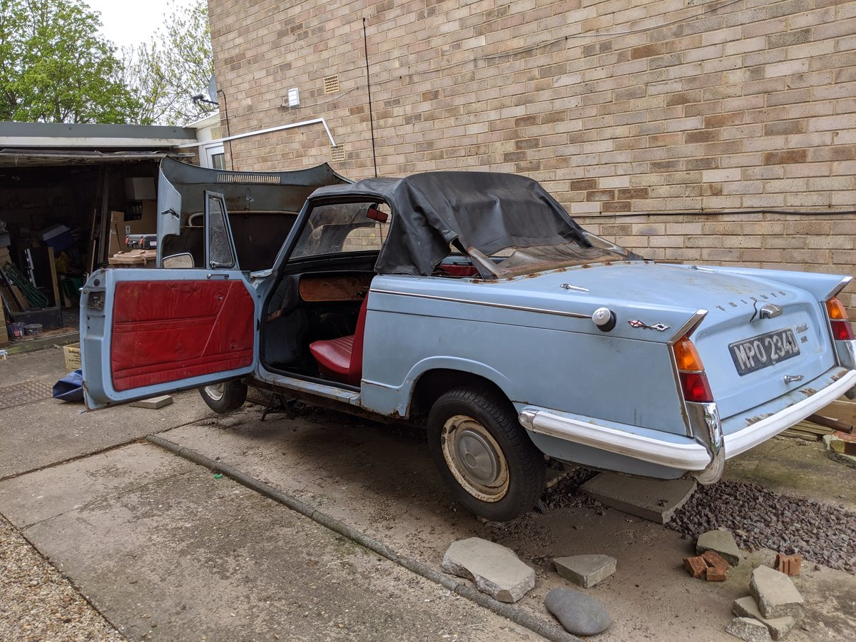 1966 Triumph herald convertible 1200  For Sale (picture 4 of 6)