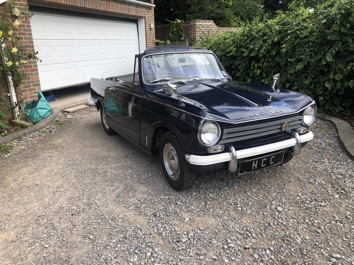 1970 Triumph herald convertible , royal blue SOLD (picture 1 of 6)