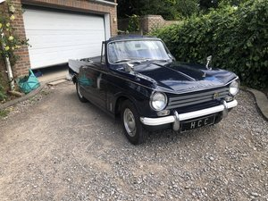 Triumph herald convertible , royal blue