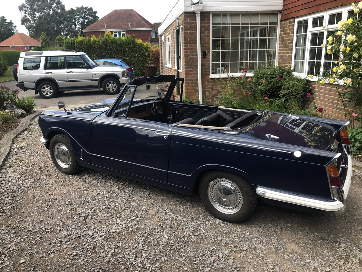 1970 Triumph herald convertible , royal blue SOLD (picture 2 of 6)