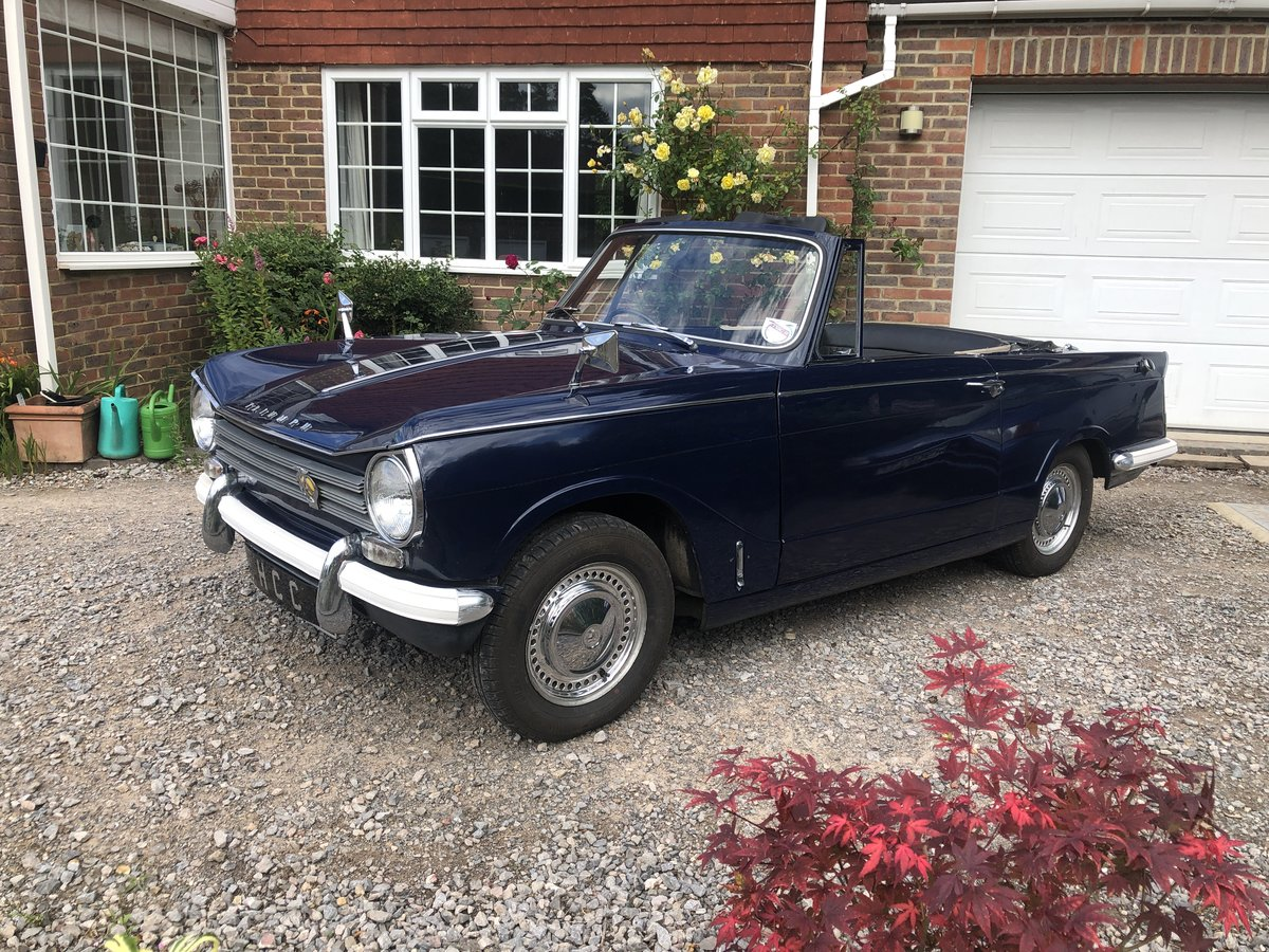 1970 Triumph herald convertible , royal blue SOLD (picture 5 of 6)