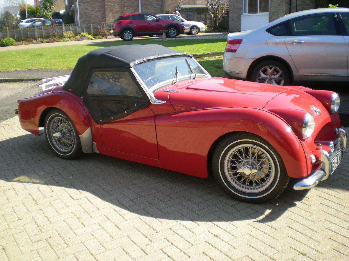 1954 Triumph TR2 small mouth with overdrive For Sale (picture 1 of 6)