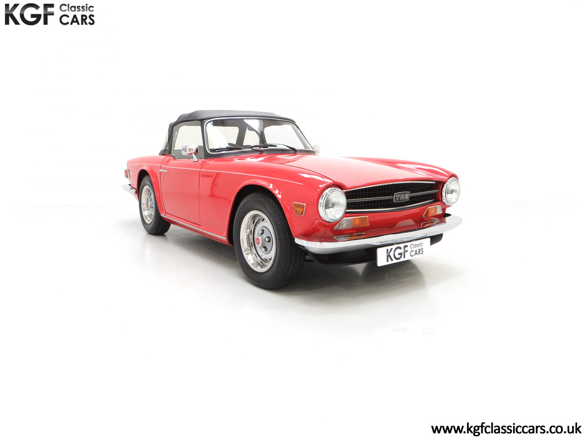 1973 A Matching Numbers UK Triumph TR6 PI with 57,234 Miles SOLD (picture 1 of 24)