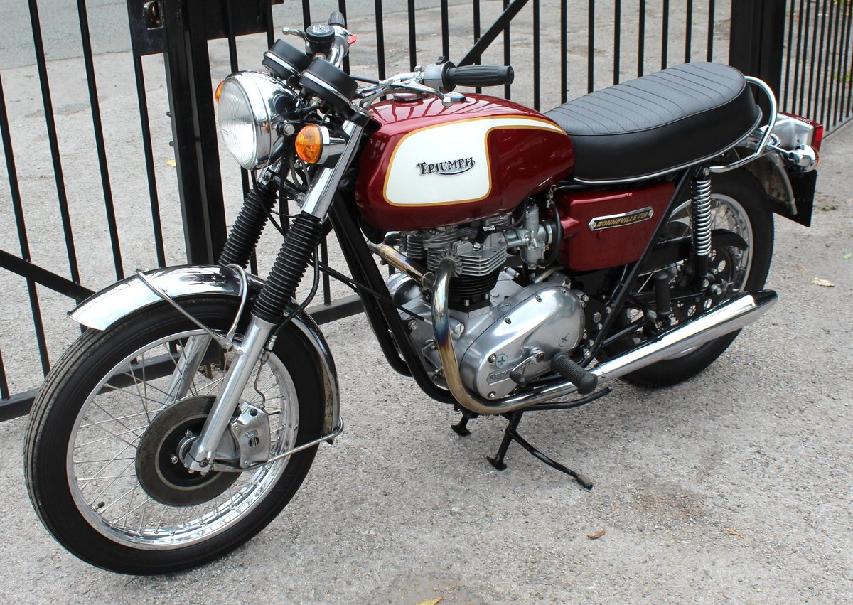 1975 Triumph T140V Bonneville UK Bike Matched Numbers  For Sale (picture 2 of 6)