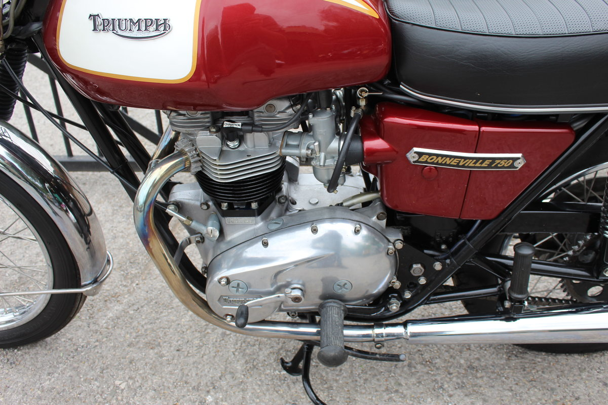 1975 Triumph T140V Bonneville UK Bike Matched Numbers  For Sale (picture 3 of 6)