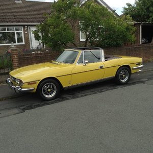 1973 Triumph Stag Automatic Finished Mimosa Yellow
