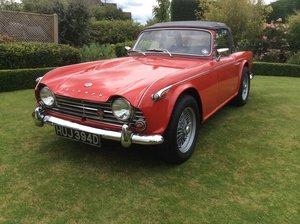 1966 Triumph TR4A IRS in Signal Red