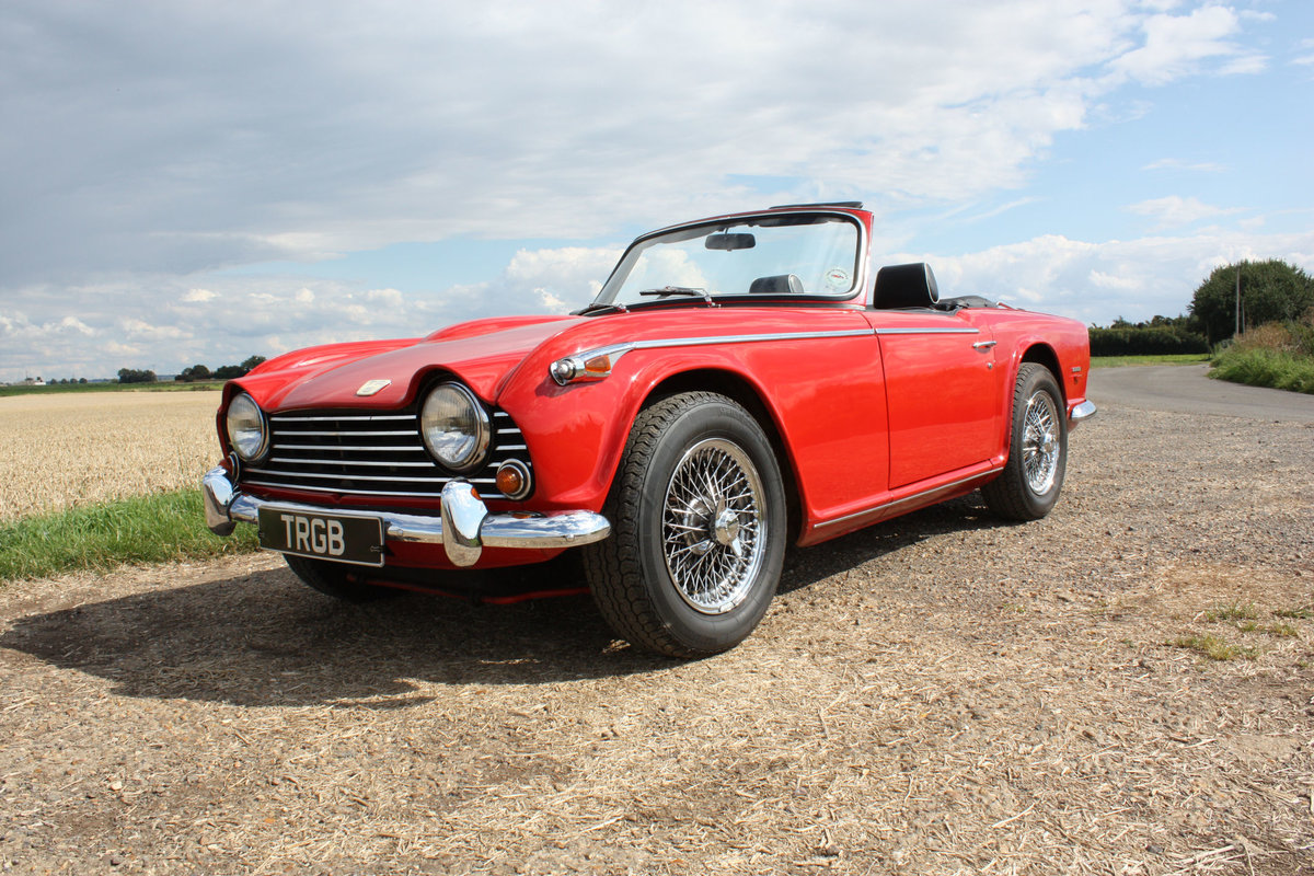1968 TRIUMPH TR5 BEAUTIFULLY PRESENTED IN SIGNAL RED WITH OV SOLD (picture 1 of 6)