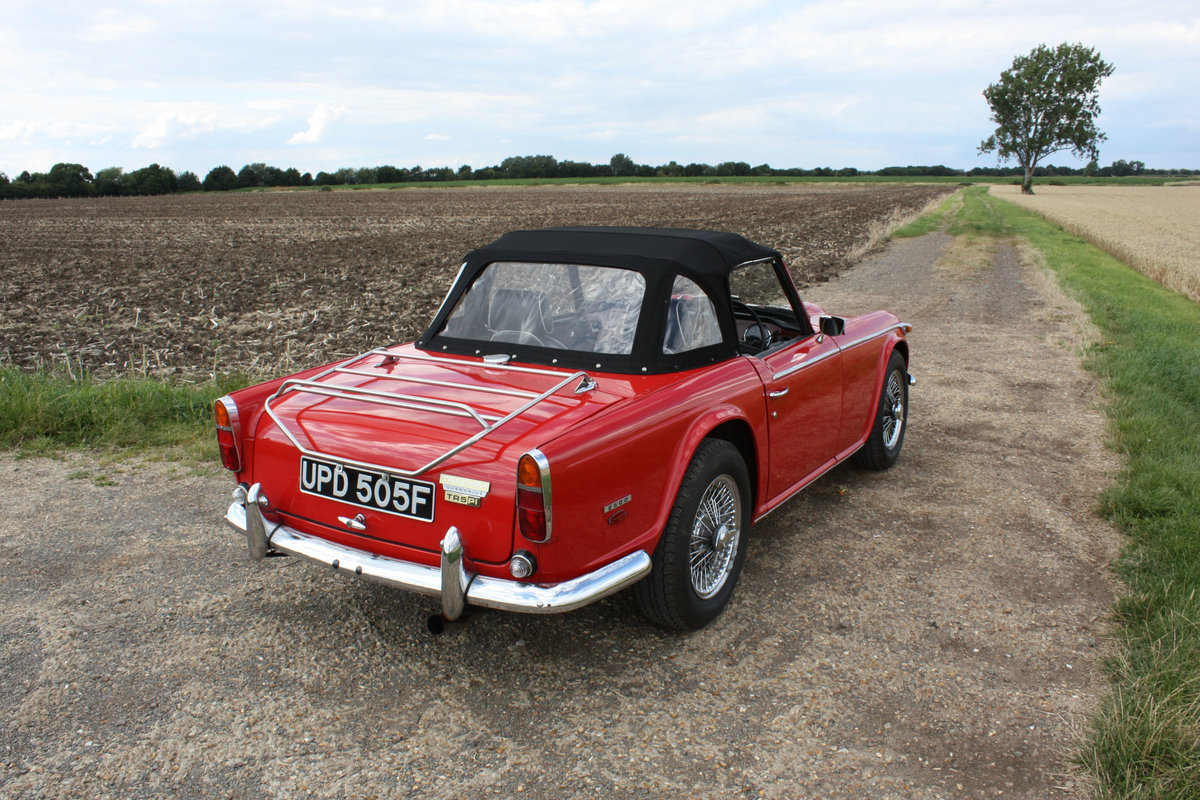 1968 TRIUMPH TR5 BEAUTIFULLY PRESENTED IN SIGNAL RED WITH OV SOLD (picture 5 of 6)