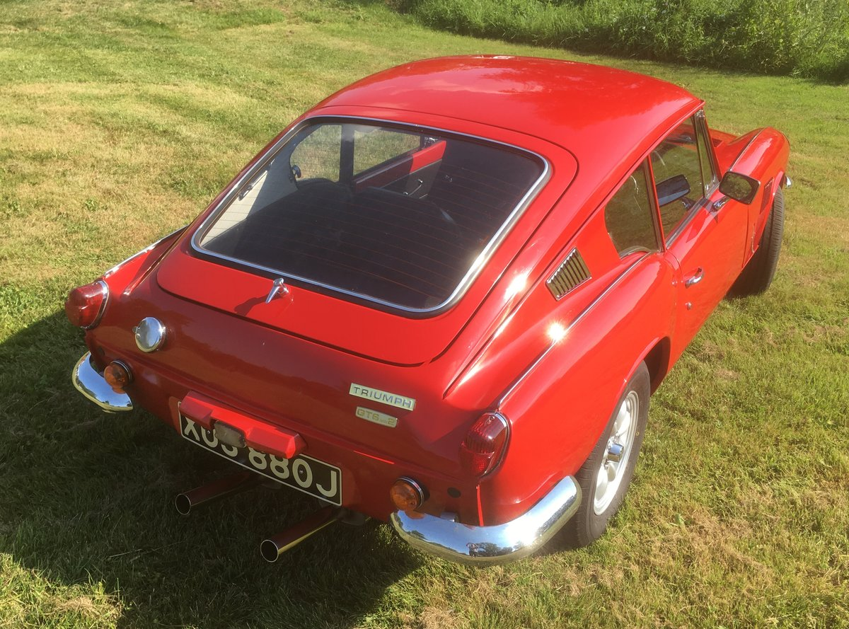 1970 Triumph GT6 Mk2 Restored, improved and rust-free   For Sale (picture 2 of 6)