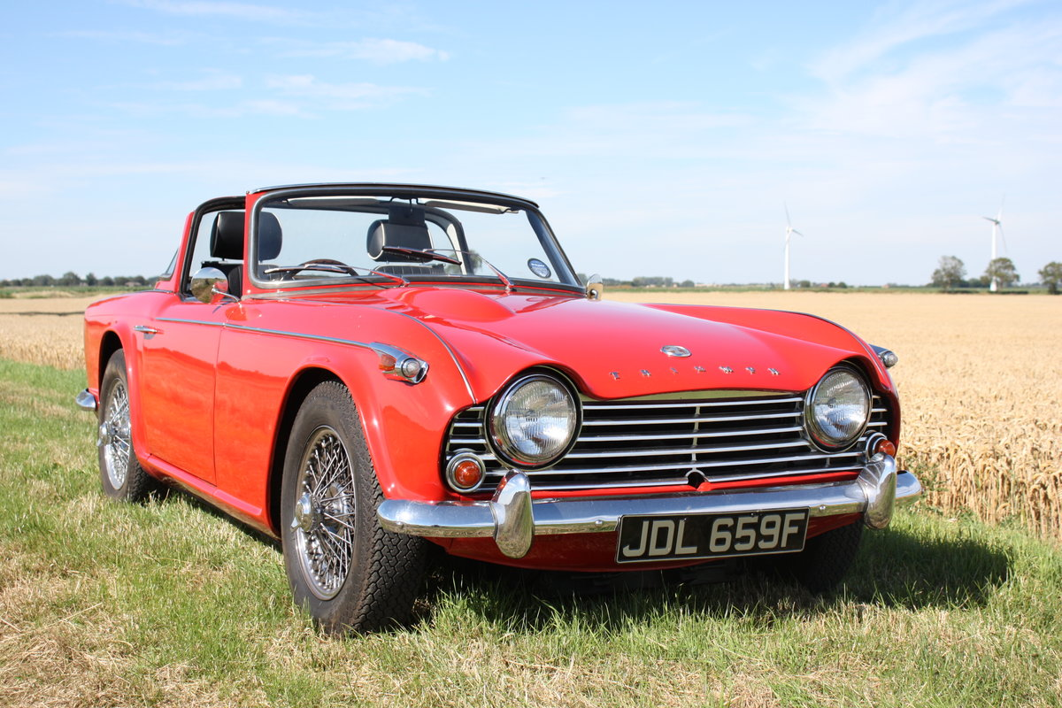 4967 TR4A 1967 SIGNAL RED WITH OVERDRIVE SOLD (picture 1 of 6)