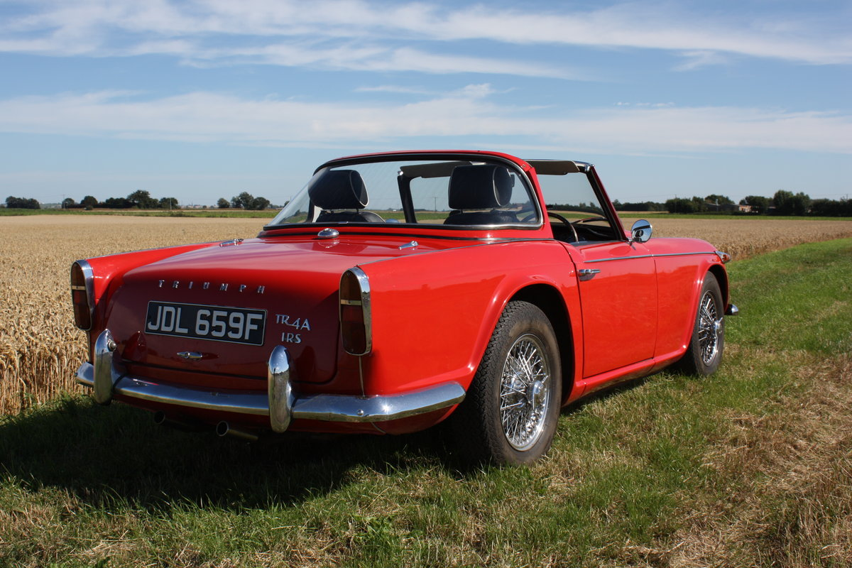 4967 TR4A 1967 SIGNAL RED WITH OVERDRIVE SOLD (picture 3 of 6)