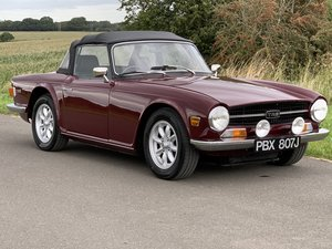 "1971/J Triumph TR6 manual O/D ""fast road spec"" damson"