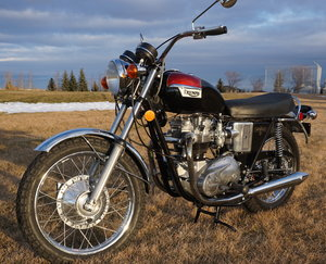 Picture of 1972 Rescued Triumph T120 V, # matching with Title