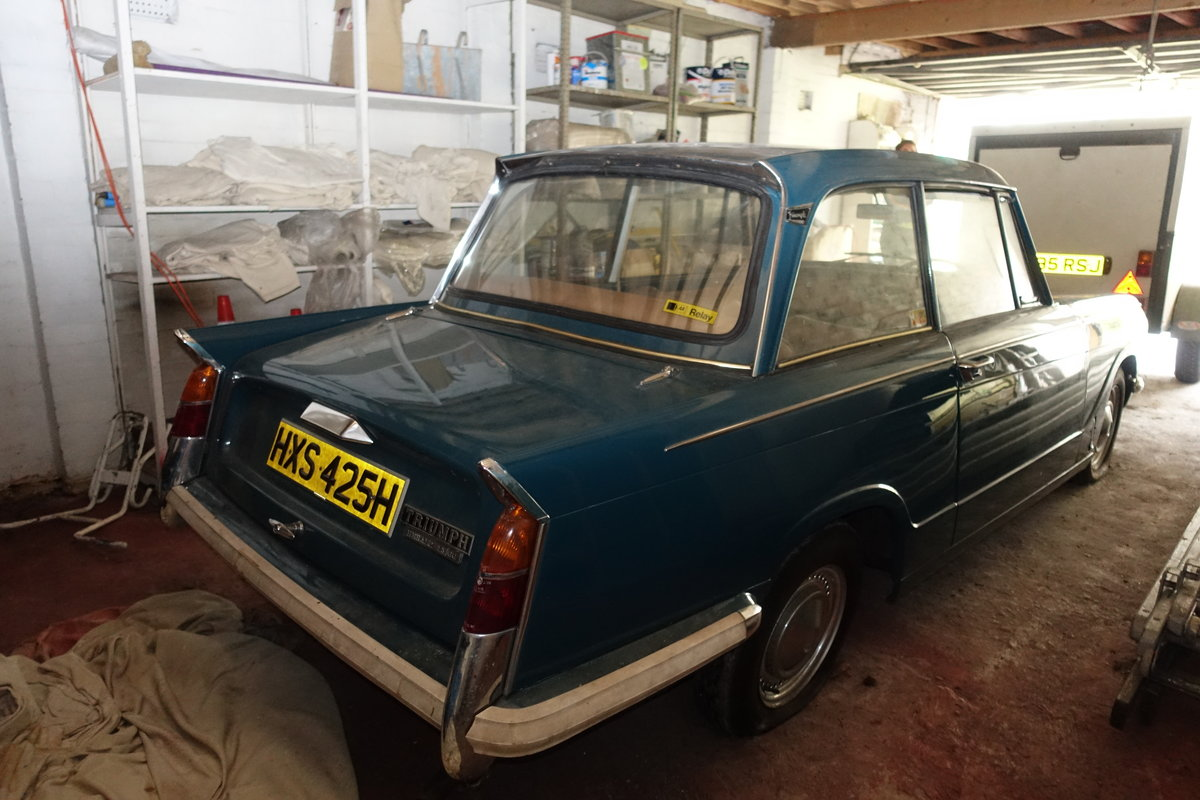 1970 Triumph Herald 13/60 'Barn Find' 14k miles! For Sale (picture 5 of 6)