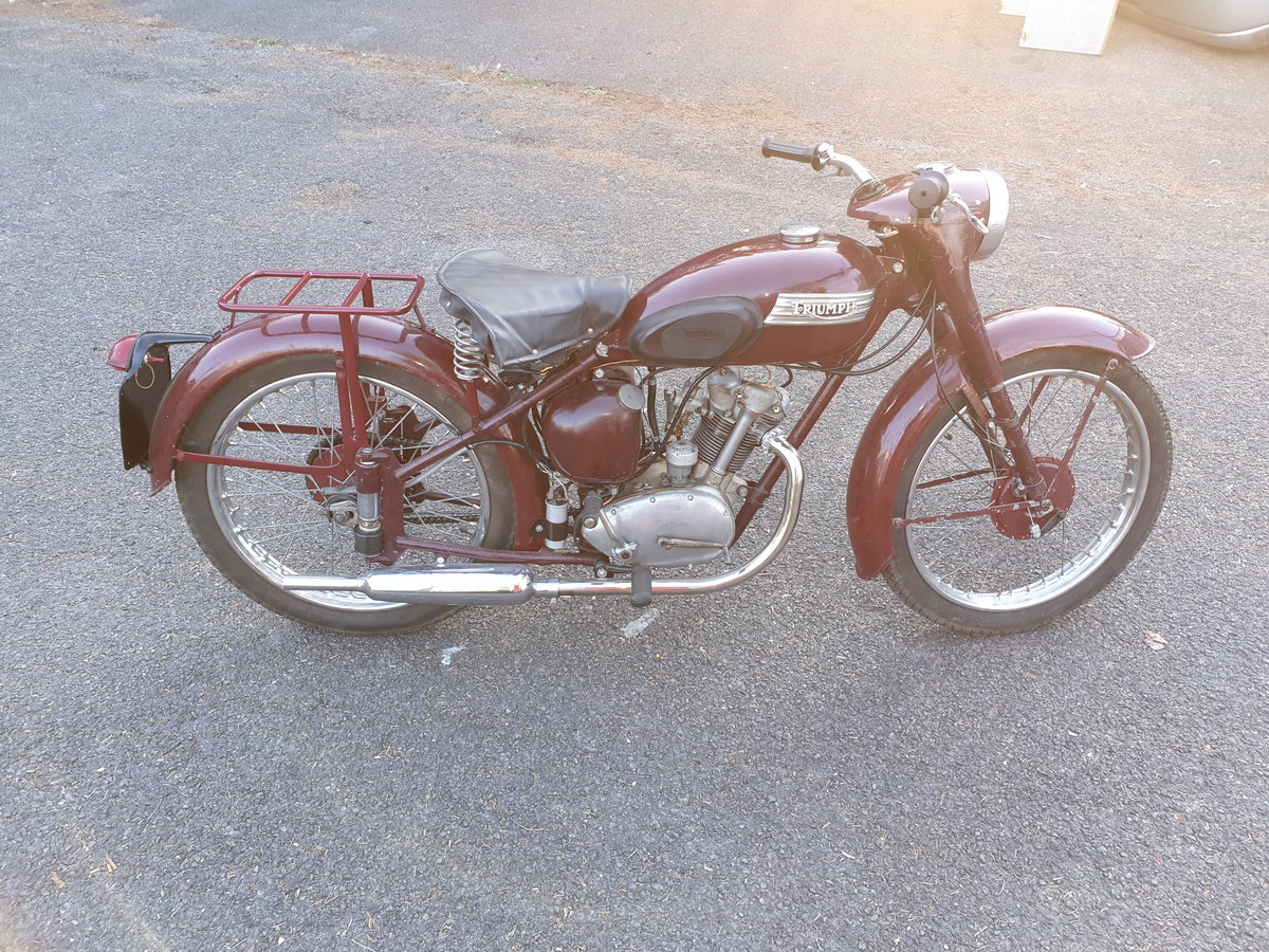 1954 Triumph Terrier T15 restored SOLD (picture 1 of 6)