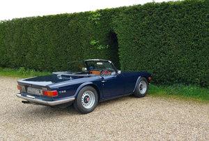 1972 Triumph TR6 Sapphire blue