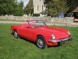 1967 TRIUMPH SPITFIRE Mk3. 1296cc. LOW MILES. RED.  WIRES. For Sale