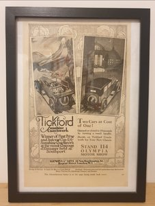 Picture of 1953 Original 1928 Tickford Framed Advert