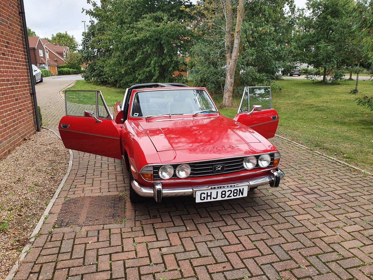 1974 Triumph Stag MK2 V8 3.0 Auto Red For Sale (picture 1 of 6)