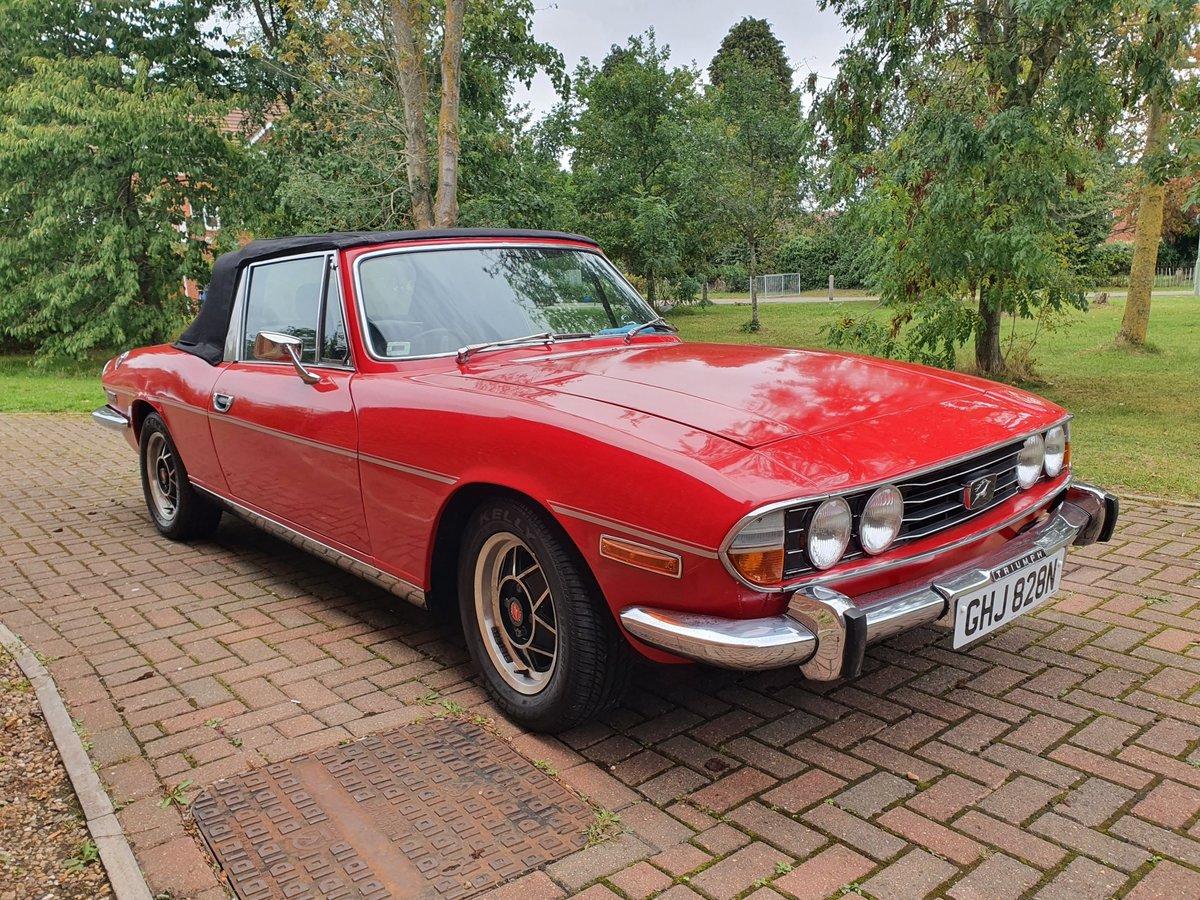 1974 Triumph Stag MK2 V8 3.0 Auto Red For Sale (picture 2 of 6)