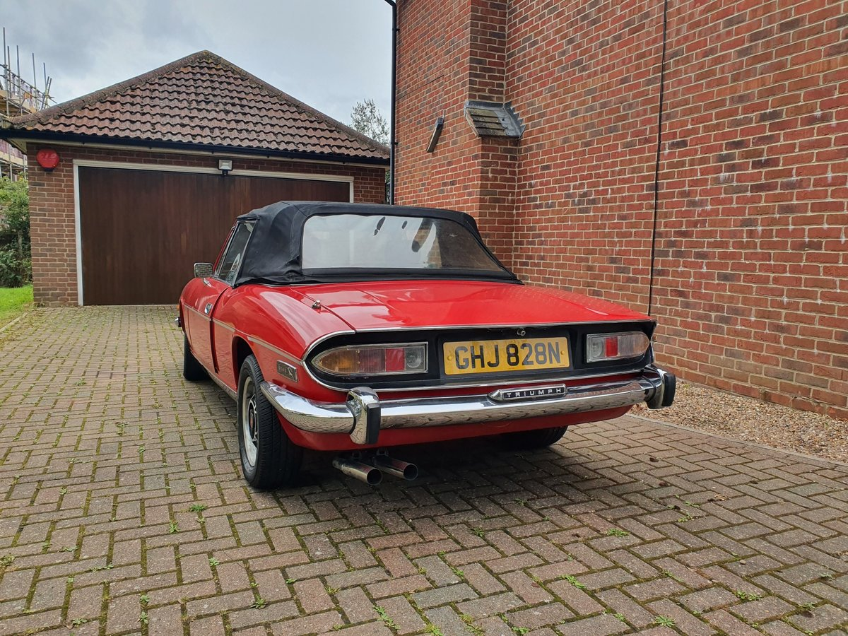 1974 Triumph Stag MK2 V8 3.0 Auto Red For Sale (picture 5 of 6)
