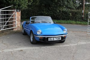1981 Triumph Spitfire 1500, One of the very last Spitfires made