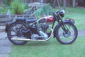 Triumph 2H restored and ready to ride.