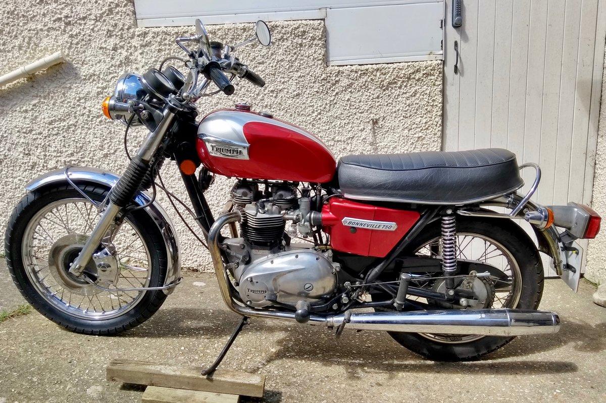 1975 Triumph Bonneville T140V 5 speed. For Sale (picture 4 of 6)