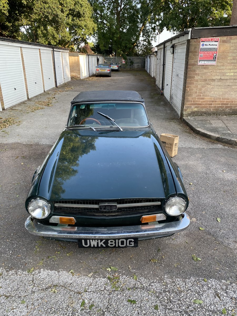 1969 Triumph TR6 150 BHP PI. British Racing Green For Sale (picture 1 of 6)