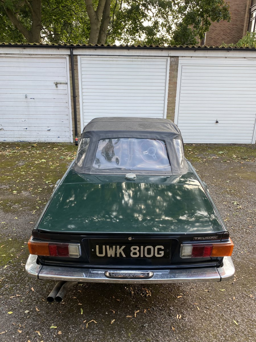 1969 Triumph TR6 150 BHP PI. British Racing Green For Sale (picture 2 of 6)