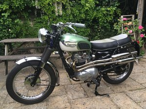 Picture of 1968 T100C Tiger Scrambler exhaust