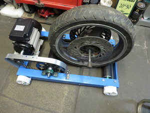 Motorcycle starter rollers