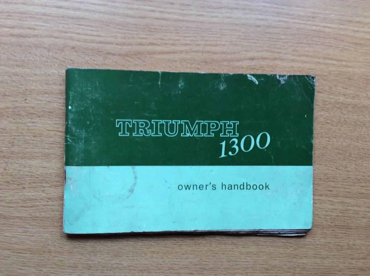 Triumph 1300 owners handbook For Sale (picture 1 of 3)